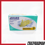 ASSURE Examination Latex Gloves Lightly Powdered (100pcs/box)