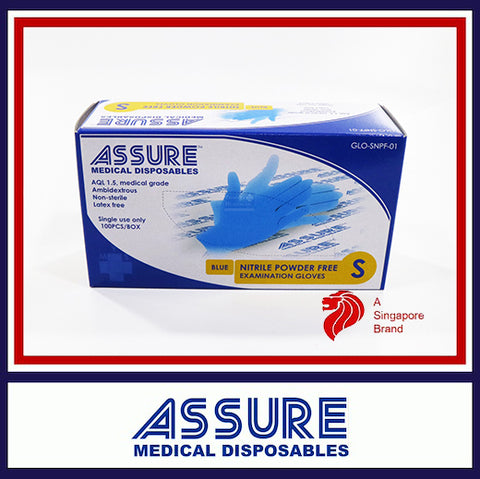 ASSURE Soft Nitrile Examination Gloves, Powder-Free (100pcs/box)