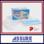 ASSURE Surgical Face Mask 3-ply, Tie-on (50pcs)