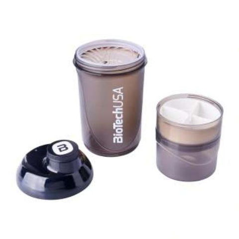 BioTechUSA: Shaker Bottle With Compartments 600 ML (+200 ML +150 ML)