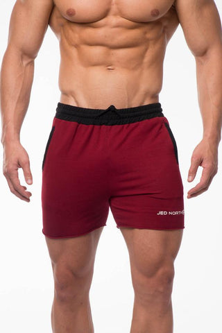 Jed North: Titan Sweat Shorts - Red