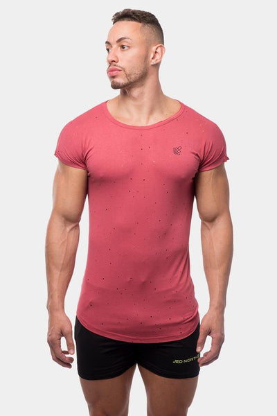 Jed North: Legacy Ripped Capped Sleeve Tee - Red