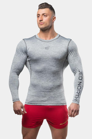 Jed North: Agile Long Sleeve Training Tee - Charcoal Gray