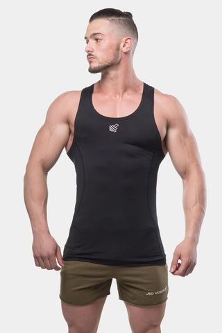 Jed North: Altitude Compression Tank Top - Black