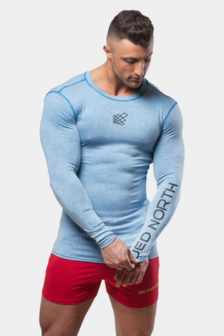 Jed North: Agile Long Sleeve Training Tee - Aqua Blue