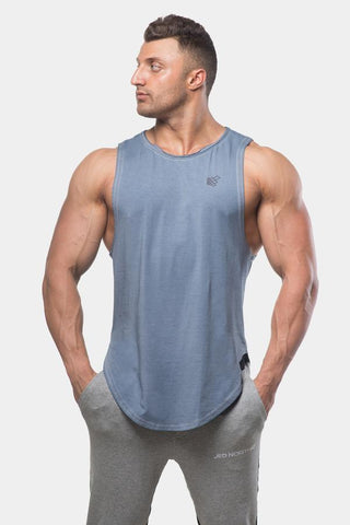 Jed North: Luxe Flex Loose Fitted Muscle Tee - Vintage Washed Blue