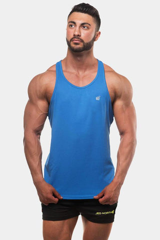 Jed North: Microfiber Dri-Fit Stringer - Blue