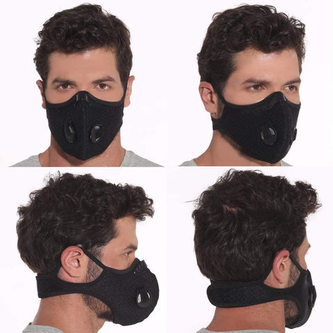 Reusable Sports Face Mask with possible add-on filters