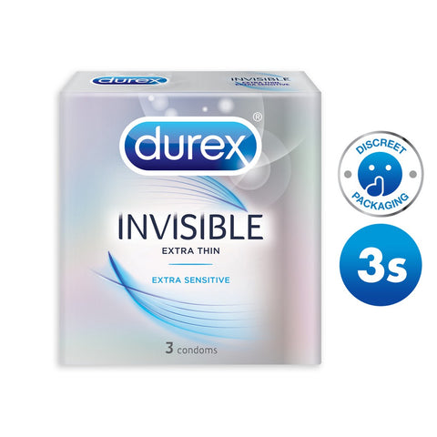 Durex Condoms: Invisible Extra Sensitive (3 pack)