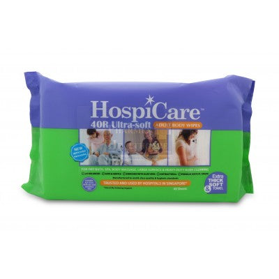 HospiCare™ 40R Adult Body Wipes Ultra Soft (40pcs/pkt)
