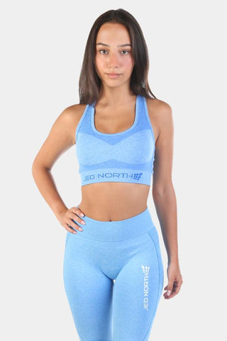 Jed North: Supple Seamless Sports Bra - Blue