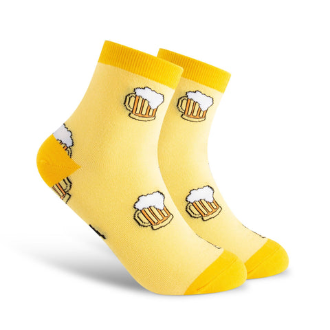 Jed North Crew Socks: Don't Worry, Beer Happy