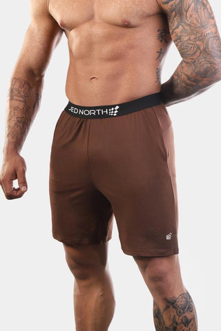 Jed North: Zenith Workout Shorts - Brown