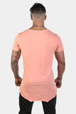 Jed North: Empire Loose Fitted Drop Tail Tee - Coral