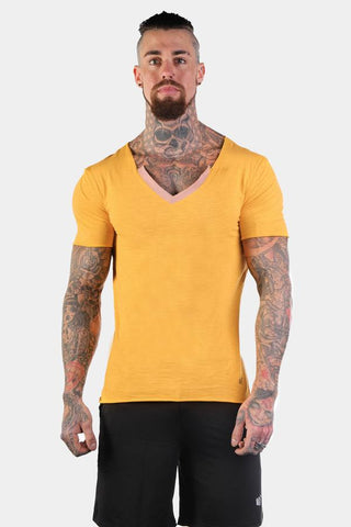 Jed North: Edge Casual V-Neck T-Shirt - Yellow