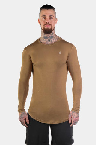 Jed North: Evolve Long Sleeve T-Shirt - Beige