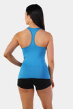 Jed North: Sky Racerback Tank - Blue