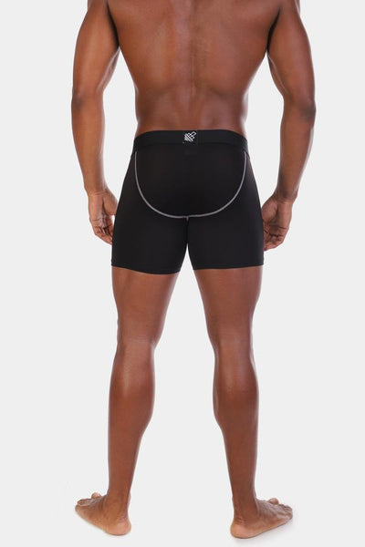 Jed North: Blaze Bodybuilding Compression Shorts - 2 Pack Black & Gray