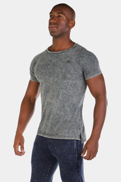 Jed North: Haze Marble Vintage Tee - Gray