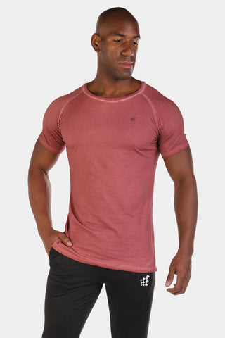 Jed North: Vintage Washed T-Shirt - Maroon