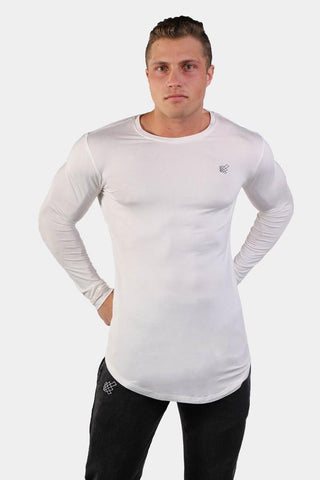Jed North: Evolve Long Sleeve T-Shirt - White