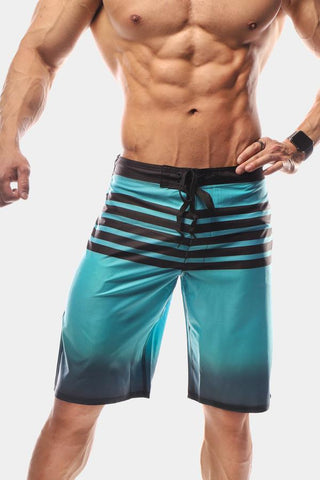 Jed North: Shadow Board Shorts - Blue Steel