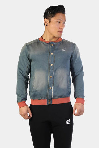 Jed North: Denim Bomber - Light Blue