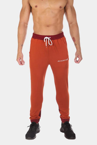Jed North: Phantom 2-Tone Tapered Joggers - Scarlet Red
