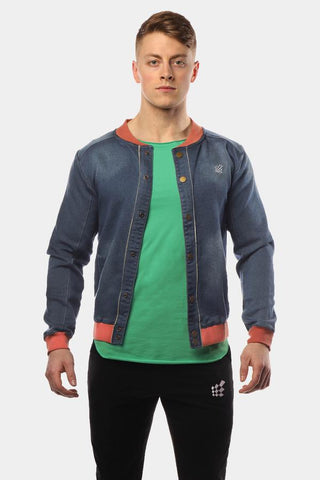 Jed North: Denim Bomber - Blue