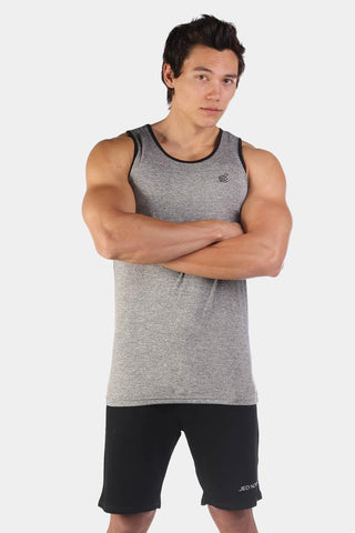 Jed North: Retro Fitted Tank Top - Light Gray
