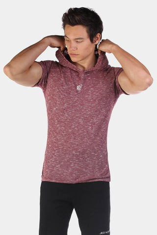 Jed North: Element Short Sleeve Hoodie - Red