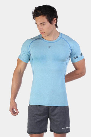 Jed North: Agile Short Sleeve Training Tee - Aqua Blue