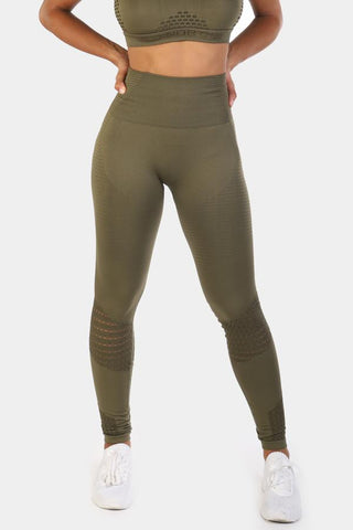 Jed North: Luxe Leggings - Olive Green