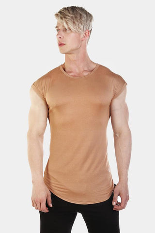 Jed North: Evolve Capped Sleeve Tee : Beige