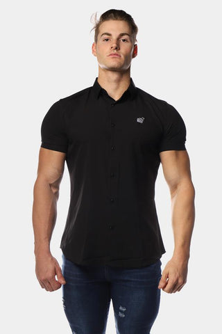 Jed North: Rogue Slim-Fitted Button Up Shirt - Black