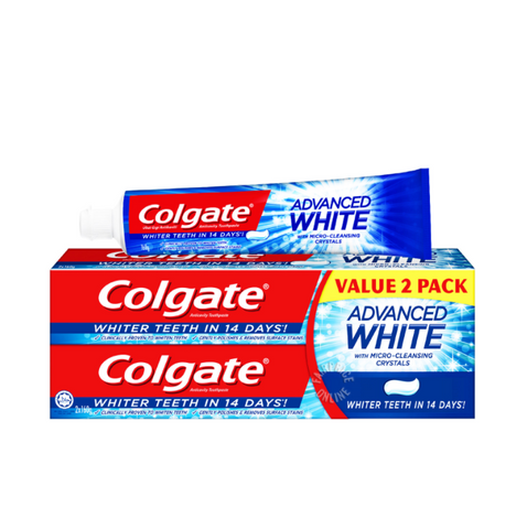 COLGATE® ADVANCED WHITENING (410g: 160g x 2 + 90g)