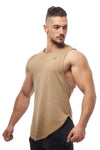 Jed North: Luxe Flex Loose Fitted Muscle Tee - Vintage Washed Brown