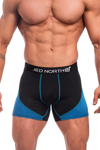 Jed North: Blaze Bodybuilding Compression Shorts - 2 Pack Red & Blue