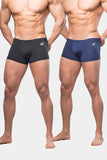 Jed North: Align Men's Sports Boxers Briefs 2 Pack - Black & Navy