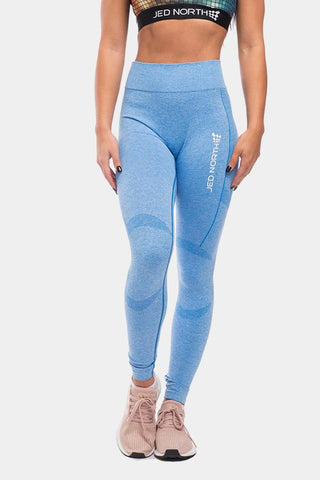 Jed North: Supple Seamless Leggings - Blue
