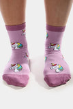 Jed North Crew Socks: Mystical Unicorn Socks