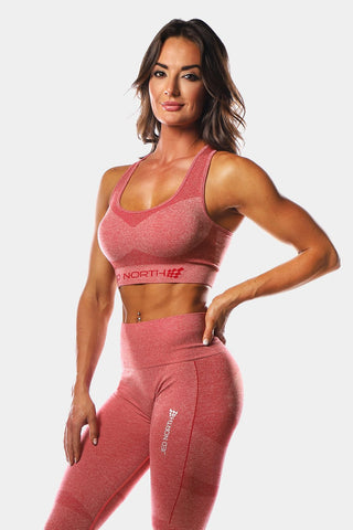 Jed North: Supple Seamless Sports Bra - Red
