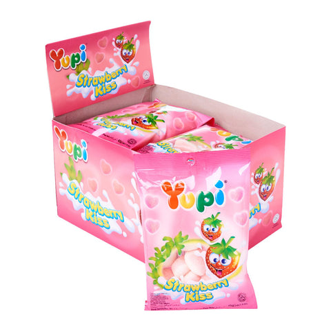 Yupi Strawberry Kiss Candy (45g x 12)