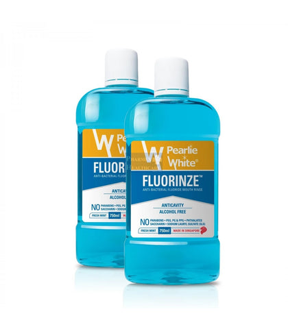 PEARLIE WHITE Fluorinze Antibacterial Fluoride Mouth Rinse, 2 X 750ml