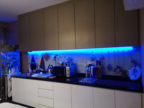 Threecubes Kitchen Cabinet LED Smart BLUE