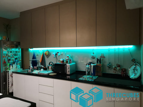 Threecubes Kitchen Cabinet LED Green