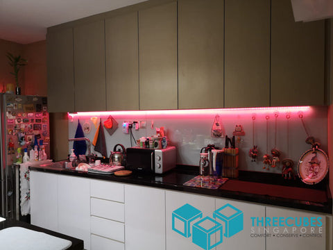 Threecubes LED Strip Kitchen Cabinet Red
