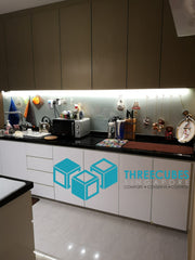 Kitchen with LED Strip