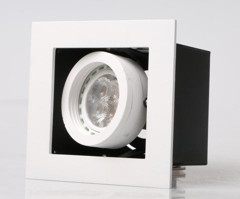 LED recessed Adjustable Spotlight Single Downlights (GU10/MR16) with spot rim - Three Cubes Lightings (Singapore)