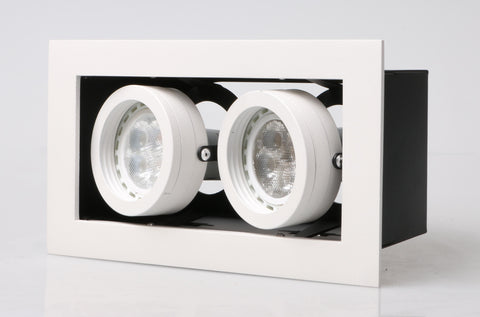 LED recessed Adjustable Spotlight Double Downlights (GU10/MR16) with spot rims - Three Cubes Lightings (Singapore)